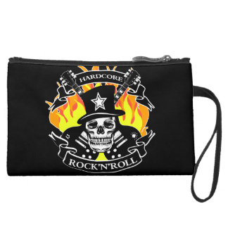 Hardcore Rock'N'Roll skull and guitars Wristlets