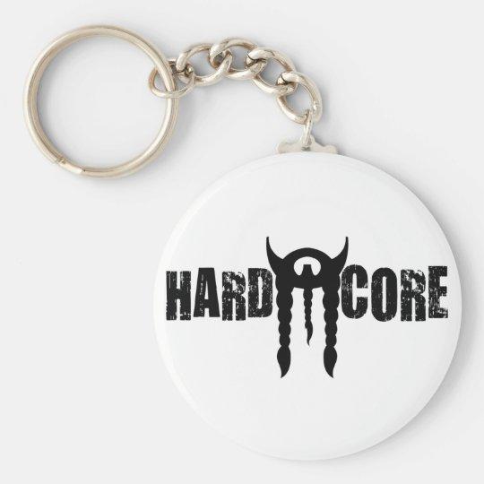 Hardcore Stache Basic Round Button Key Ring