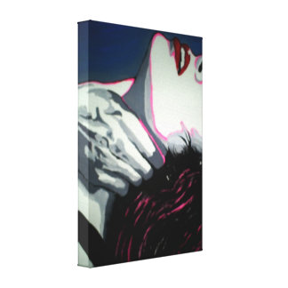 'Hardcore' Stretched Canvas Print