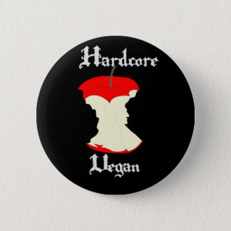Hardcore Vegan Apple Design 6 Cm Round Badge