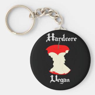 Hardcore Vegan Apple Design Basic Round Button Key Ring