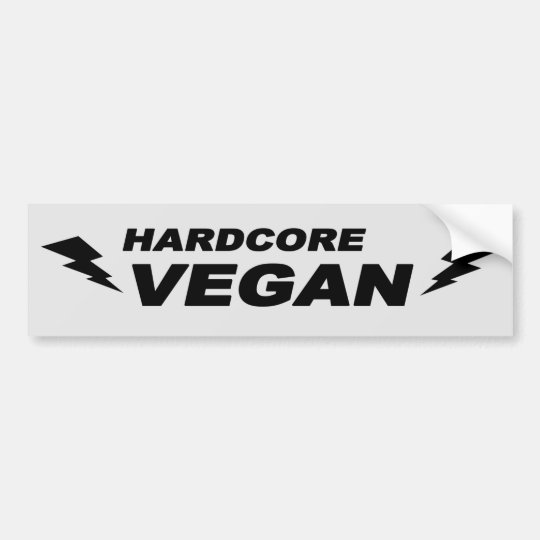 Hardcore Vegan Bumper Sticker