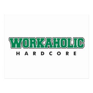 Hardcore Workaholic Postcards
