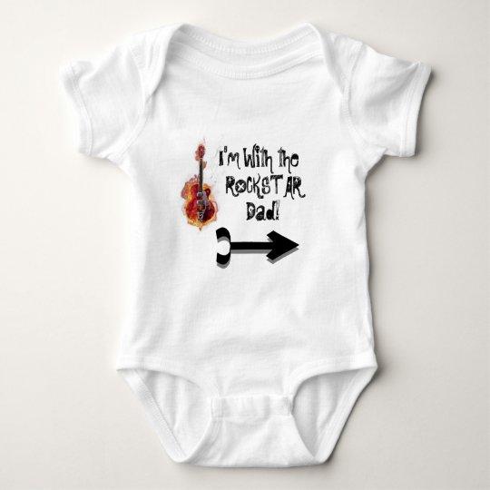 HardCoreGuitarForWebsite, Arrow---Pointing-to-r Baby Bodysuit