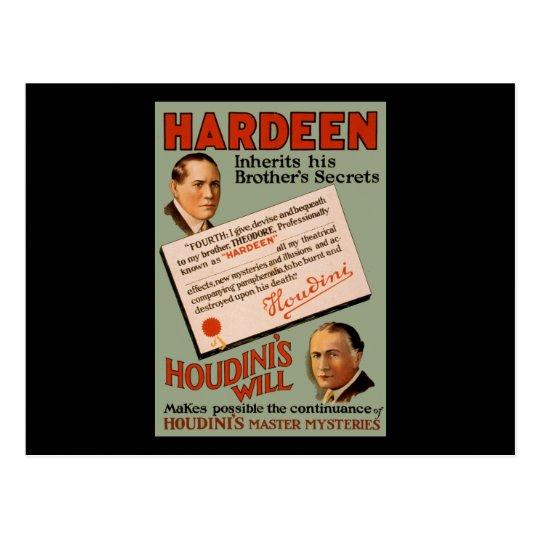 Hardeen inherits his brother's secrets postcard
