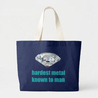 Hardest Metal Known To Man Large Tote Bag