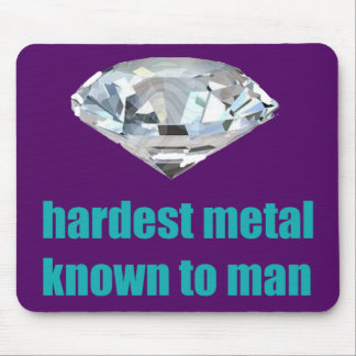 Hardest Metal Known To Man purple Mouse Pads