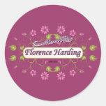 Harding ~ Florence Harding / Famous USA Women Round Sticker