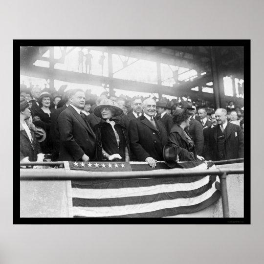 Harding Hoover Wives Baseball 1922 Poster