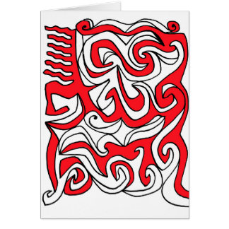 Hardman Abstract Expression Red White Black Greeting Card