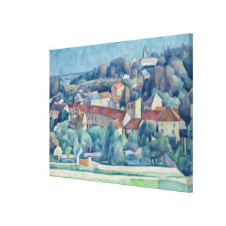 Hardricourt Village and Castle Canvas Print