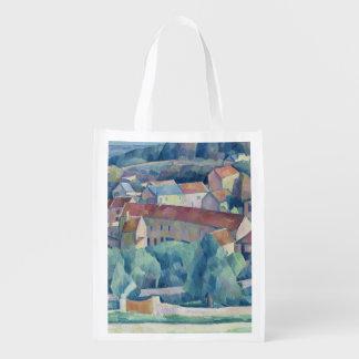 Hardricourt Village and Castle Reusable Grocery Bag