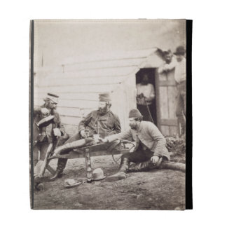 Hardships in the Camp (Colonel Lowe and Captains B iPad Folio Cases