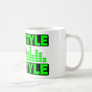 Hardstyle Lifestyle hazzard and tempo design Basic White Mug