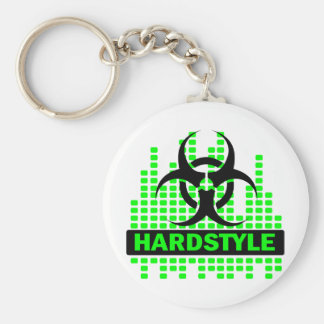 Hardstyle Tempo design Basic Round Button Key Ring