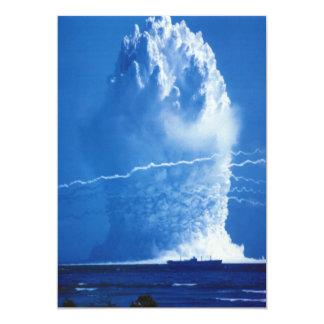 Hardtack Umbrella Underwater Nuclear Test 1958 13 Cm X 18 Cm Invitation Card