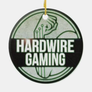 Hardwire Gaming Christmas Orniment Round Round Ceramic Decoration
