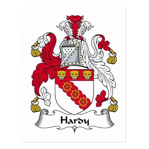 Hardy Family Crest Postcards