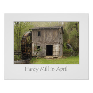 Hardy Mill in April Poster