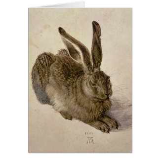 Hare, 1502 greeting card
