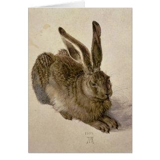 Hare, 1502 greeting card
