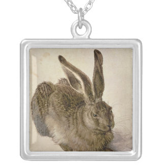 Hare, 1502 silver plated necklace