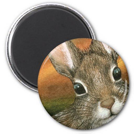 hare 15 Round Magnet