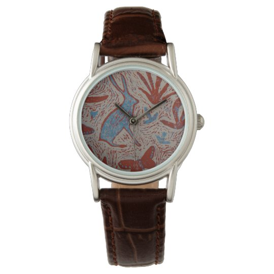 Hare and Butterfly Ladies Leather Watch