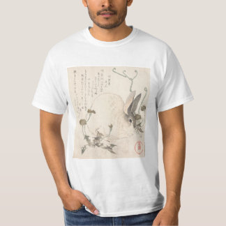 Hare and Dandelion, Kubo Shunman, Japanese Art T-Shirt