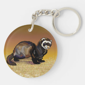 hare and ferret key ring