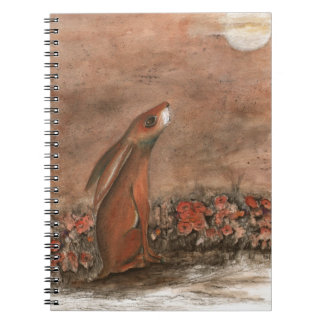 Hare and Moon Notebook