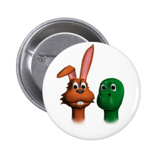 Hare and Tortoise01 6 Cm Round Badge