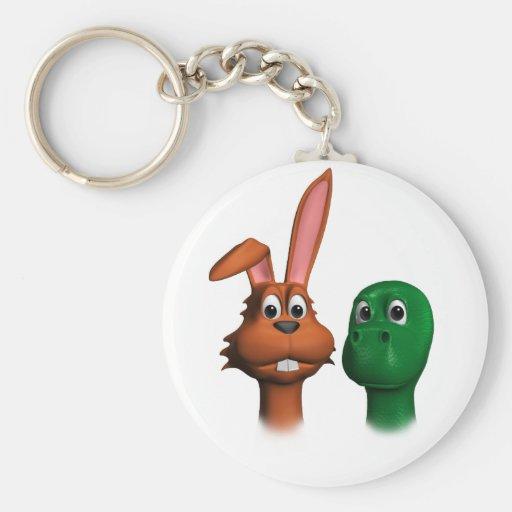 Hare and Tortoise01 Keychain