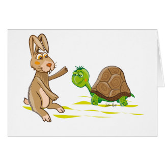 Hare and Tortoise Greeting Card