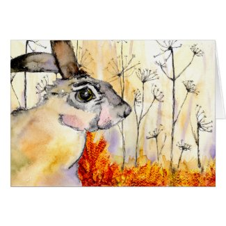 Hare art card (a387)
