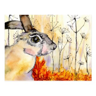 Hare art card (a388) postcard title=