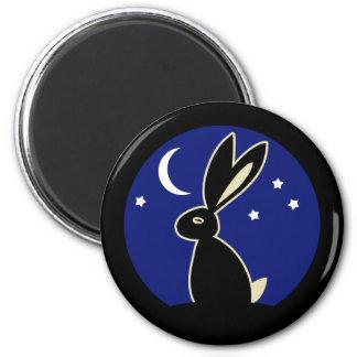 Hare at Twilight 6 Cm Round Magnet