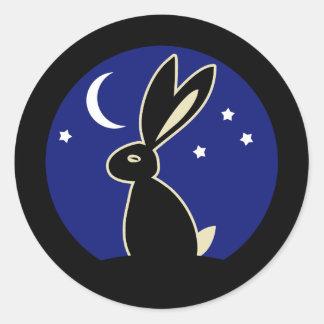 Hare at Twilight Round Sticker