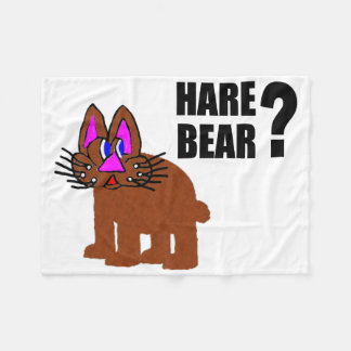 Hare Bear? Fleece Blanket