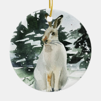 Hare christmas ornament winter hare decoration