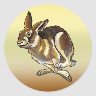 hare classic round sticker