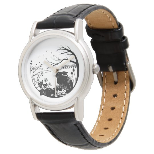 Hare Design Leather Ladies Watch