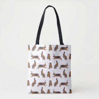 Hare Frenzy All Over Print Bag (choose colour)