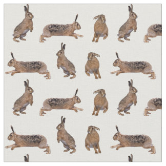 Hare Frenzy Fabric (choose colour)