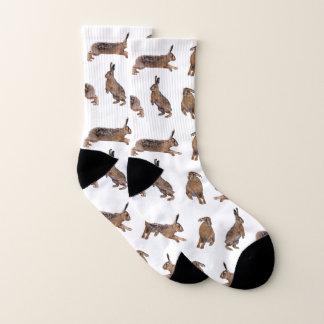 Hare Frenzy Socks (Choose colour)