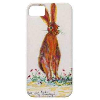 Hare in Poppies Case For The iPhone 5
