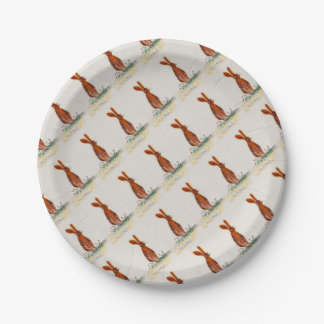 Hare in Poppies Paper Plate