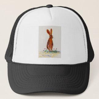 Hare in Poppies Trucker Hat