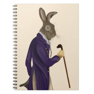 Hare In Purple Coat 2 Spiral Notebook