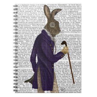 Hare In Purple Coat Notebooks